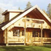 Сборка комплекта деревянного дома фото