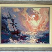 Картина «Буря на море ночью» фото