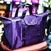 Хозяйственная складная сумка CAMPUS 60х22х35см фиолетовая фото