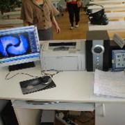 Кабинет Биологии. Стол преподавателя. Компьютер и комплектующие. фото