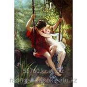 Картина стразами На качелях любви 60х80 см фото