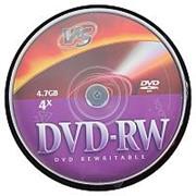 Диск DVD+RW VS 4,7GB, 4x, cakebox/10шт, перезаписываемый фото