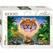 Пазлы 6000 Величественный тигр фото