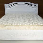 Кровать белая двуспальная деревянная в Харькове фото