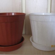 Горшок для цветов с подставкой Ф-180, материал (П.П) цвета в ассортименте. фото