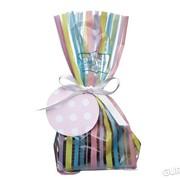 Пакетики для сладостей в полоску с лентой Sweetly Does It Kitchen Craft 12шт (435835) фото