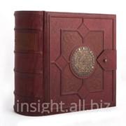 Книга-бар деревянный (натуральная кожа), Art. No 016-07-02-13 фото