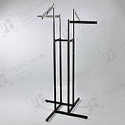 Вешалка стойка (вешало) напольная для одежды HR42B(черн/хром) фото