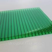 Сотовый поликарбонат зеленый 4мм Oscar (Оскар) фото