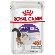 Royal Canin 4+1*85г пауч Sterilised Влажный корм для взрослых стерилизованных кошек (паштет) фото