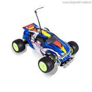 Р/У Автомобиль MioshiTech XENO-V 1:18, до 12 км/ч синий (23.5 см, пульт с колесом, съёмный корпус) фото