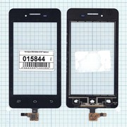 Сенсорное стекло (тачскрин) для Micromax A107 Canvas Fire 3 черный, Диагональ 4.5, 854х480 фото