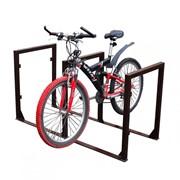Велопарковка П-образная на 3 (6) мест с креплением для рекламных щитков фото