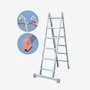 Алюминиевая двухсекционная шарнирная лестница 2х8 ступеней TriMatic KRAUSE 121332 фото