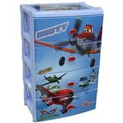 Комод детский пластиковый широкий Самолёты-Дисней (для мальчиков), 2221 фото