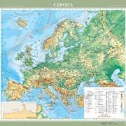 Європа. Фізична карта, м-б 1:5 000 000 фото