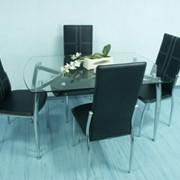 Стол обеденный черный DT1-004 фото
