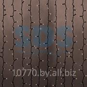 """Гирлянда """"Светодиодный Дождь"""" 2х3м, постоянное свечение, черный провод """"КАУЧУК"""", 220В, диоды ТЁПЛО-БЕЛЫЕ, NEON-NIGHT фото"""