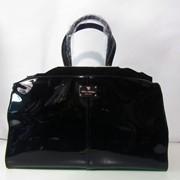 Модная кожаная сумка замша+лак Velina Fabbiano фото