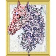 Алмазная картина с фигурными стразами Аметистовая лошадь ТМ COLOR KIT FKU005 фото