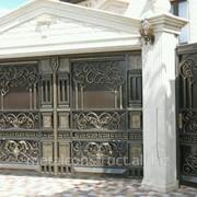 Ворота кованые элитные №64 фото