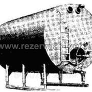 Емкость РГА-25 куб м алюминиевая в теплоизоляции с змеевиком охлаждения фото