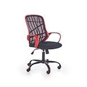 Кресло компьютерное Halmar DESSERT (красный/черный) фото
