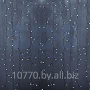 """Гирлянда """"Светодиодный Дождь"""" 2х1,5м, постоянное свечение,прозрачный провод, 220В, диоды БЕЛЫЕ фото"""