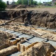 Строительня компания Олис-групп Харьковский филиалт производит устройство фундаментов всех видов. фото
