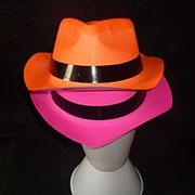 Шляпа цветная с чёрным кантом 25х10см фото