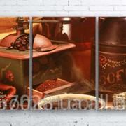 Модульна картина на полотні Кава та зерна код КМ100180-012 фото