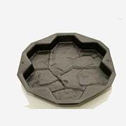 Пластиковая форма для тротуарных плит Каменная роза фото