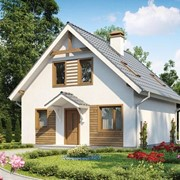 Двухэтажный мансардный каркасный дом Адриатика фото