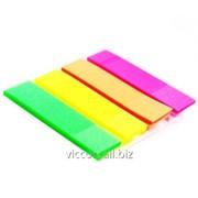 Стикер-закладка, 4 цвета по 40 пластиковых листиков, 20 х 50 мм, forpus FO42027 фото