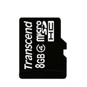 Карта памяти micro SD 8 GB Transcend, Class 4, no adapter, TS8GUSDC4 фото