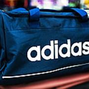 Спортивная дорожная сумка ADIDAS средняя 49х23х28 см синяя фото