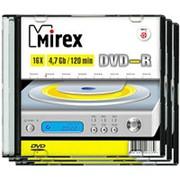Оптический диск DVD-R 4.7 Гб Mirex тонкий-слим- фото