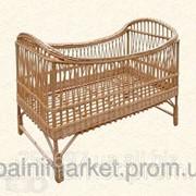 Кроватка детская, изделие из лозы фото