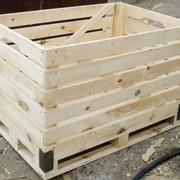 Поддон-контейнер деревяный фото