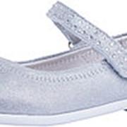 332093-21 серебряный туфли малодетско-дошкольные нат. кожа Р-р 27 фото