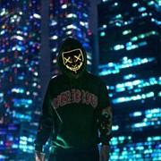 Светящаяся неоновая маска фото