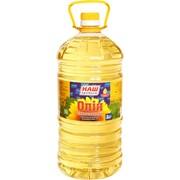 Масло подсолнечное рафинированное дезодорированное 3л. Код 4300072 фото