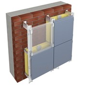 Монтаж вентилируемого фасада из алюминиевых композитных панелей фото