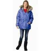 Куртка Аляска женская васильковая фото