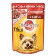 Консервы для взрослых собак мелких пород, с говядиной Pedigree 85 г фото