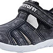 421026-15 черный туфли летние дошкольные текстиль Р-р 26 фото