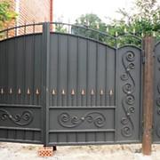 Ворота для дачи распашные фото