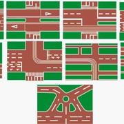 Планшеты с макетами перекрестков для Курсантов автошкол фото