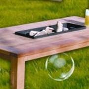 Столик деревянный для барбекю, столик для дачи фото