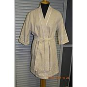 Вафельный женский халат фото